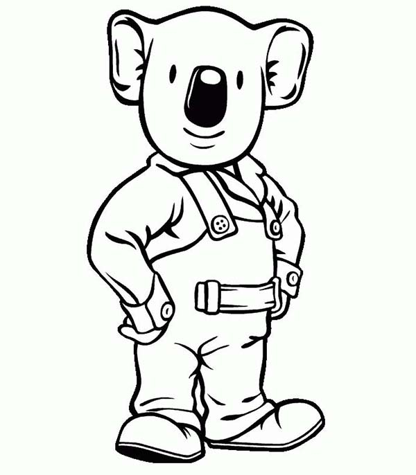 Koala Bear, : Koala Bear the Handy Man Coloring Page