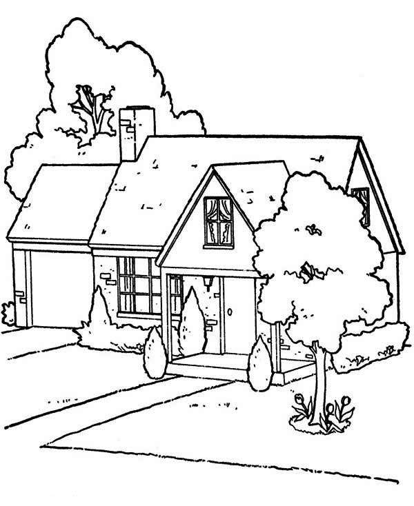 lovely houses coloring page