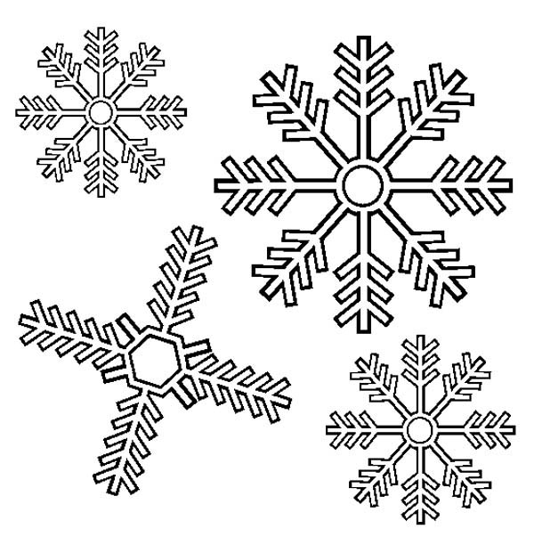 Snowflakes, : Lovely Snowflakes Coloring Page