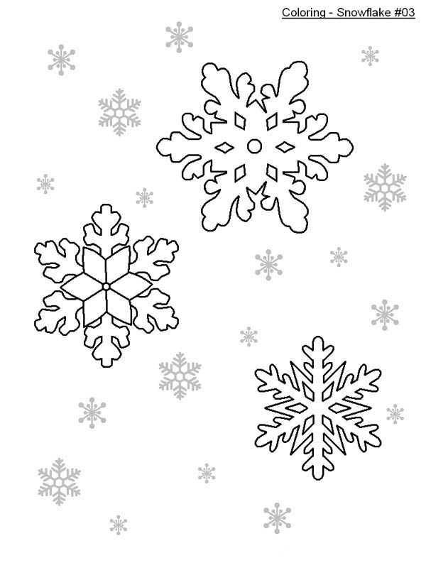 nice snowflakes coloring page - Christmas Snowflake Coloring Pages