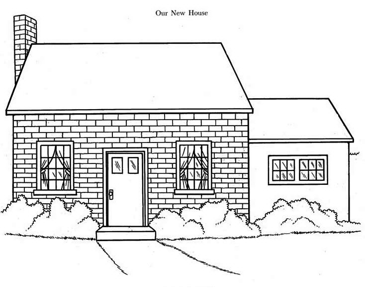 Our New House in Houses Coloring Page Color Luna