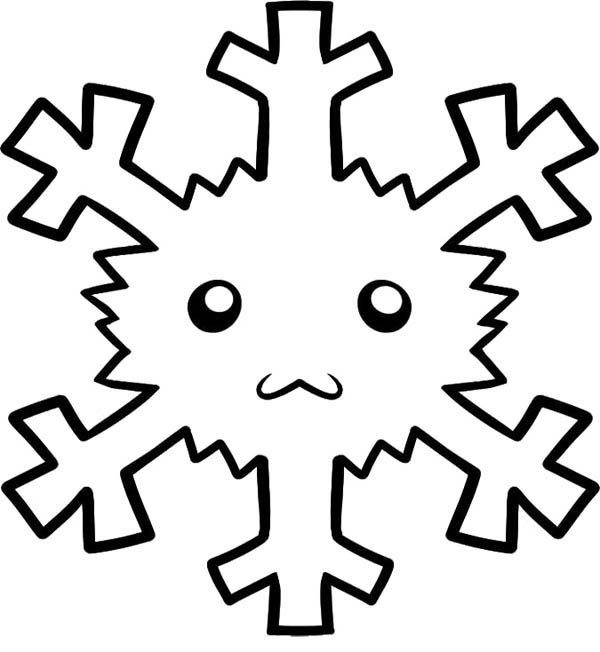 Snowflakes, : Snowflakes Face Coloring Page