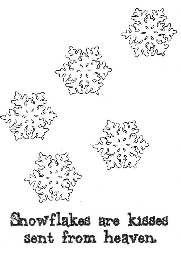 Snowflakes, : Snowflakes from Heaven Coloring Page