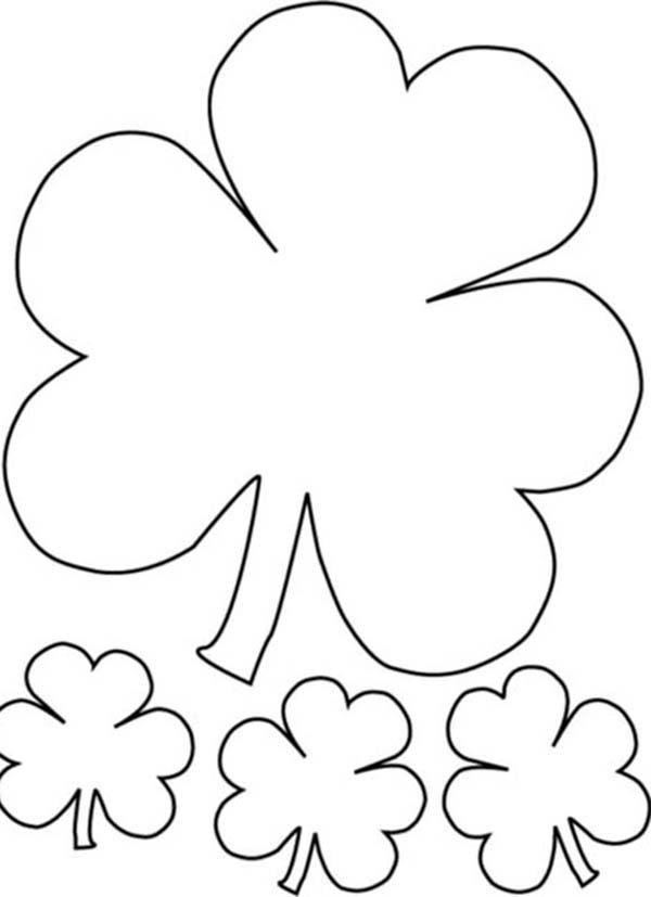 The Irish Called Three-Leaf Clover as Shamrock Coloring Page | Color ...