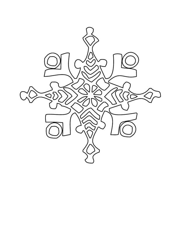 Snowflakes, : Winter Snowflakes Coloring Page