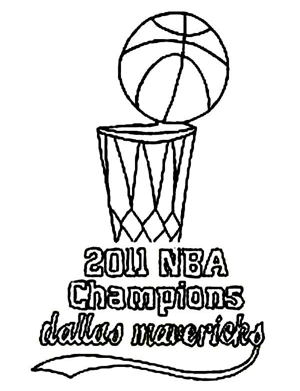 NBA, : 2011 NBA Champions Dallas Mavericks Coloring Page