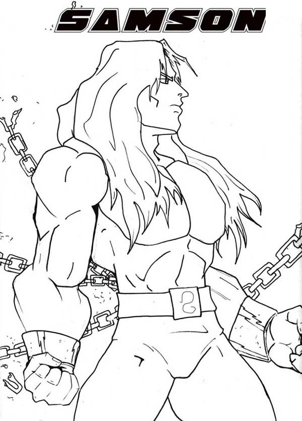 Samson, : Amazing Picture of Samson Coloring Page