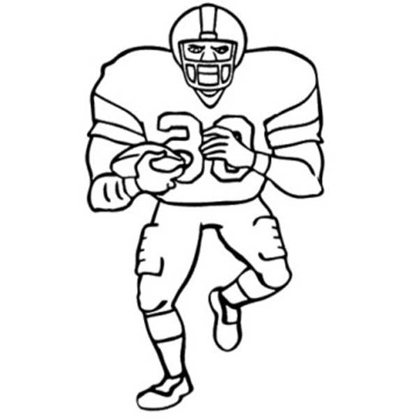 NFL, : American Footbal Player in NFL Coloring Page