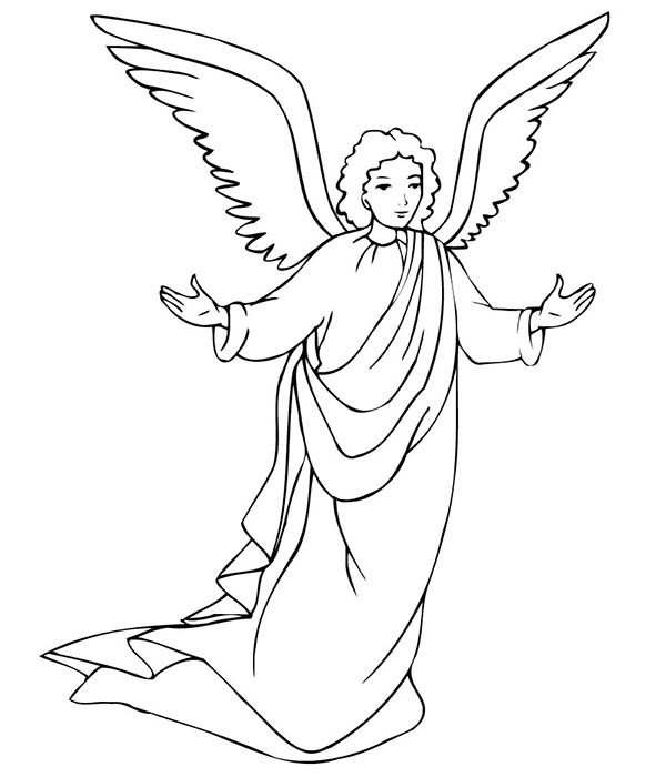 Angels, : Angels Will Take Care of Us Coloring Page