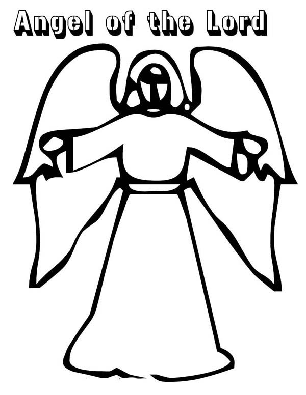 Angels, : Angels of the Lord Coloring Page