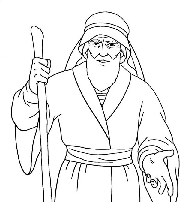 Moses, : Awesome Drawing of Moses Coloring Page