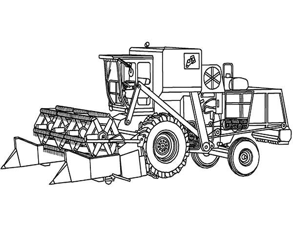 Digger, : Awesome Drawing of a Digger Coloring Page
