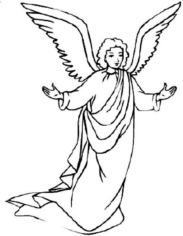 Awesome picture of angels coloring page awesome picture for Angel coloring pages