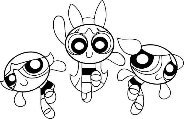 Awesome Picture of The Powerpuff Girls Coloring Page Color Luna