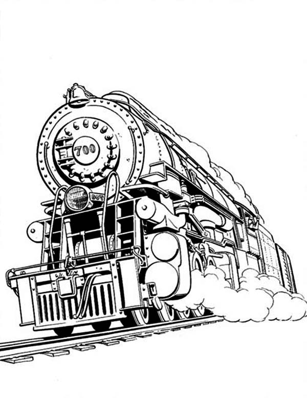 steam engines coloring pages - photo#10