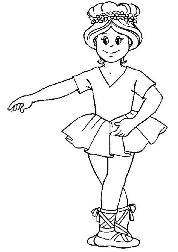 Ballerina Basic Position Coloring Page Color Luna