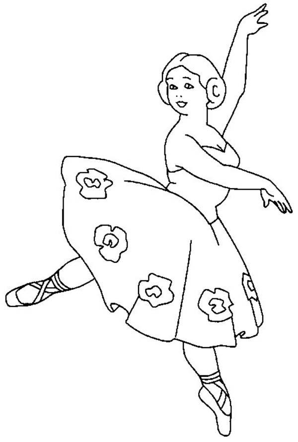 Ballerina, : Ballerina Teacher Coloring Page