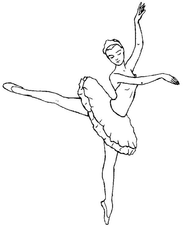 Ballerina is Ballet Dancer Coloring Page | Color Luna