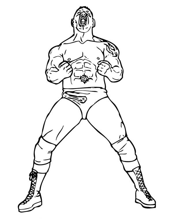 Wwe Wrestling Coloring Pages Sketch Coloring Page