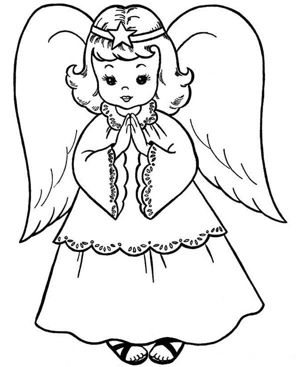 Beautiful Angels Coloring Page | Color Luna