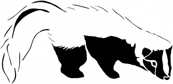 Black And White Skunk Coloring Page