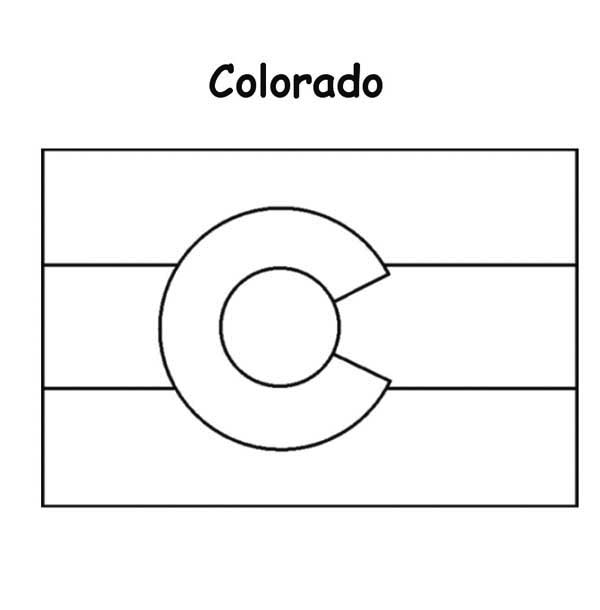 colorado state flag coloring page
