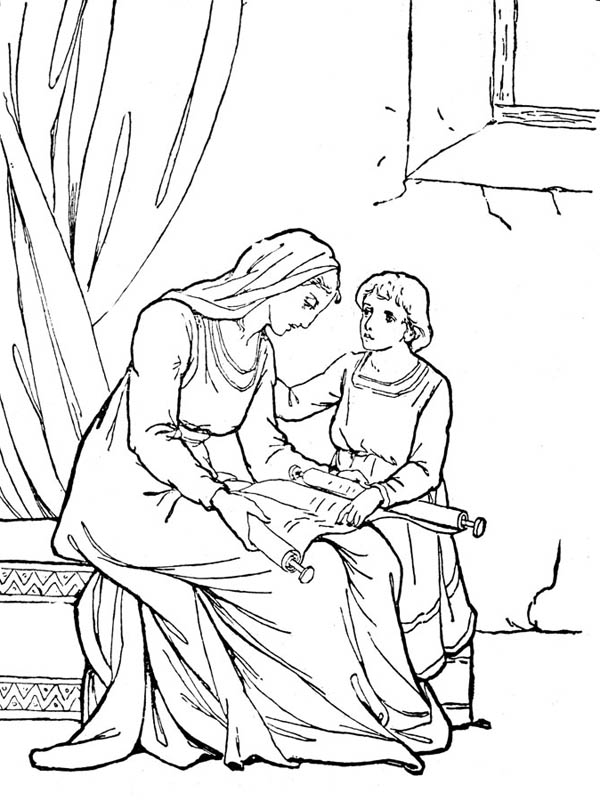 Middle Ages, : Common People in Middle Ages Coloring Page