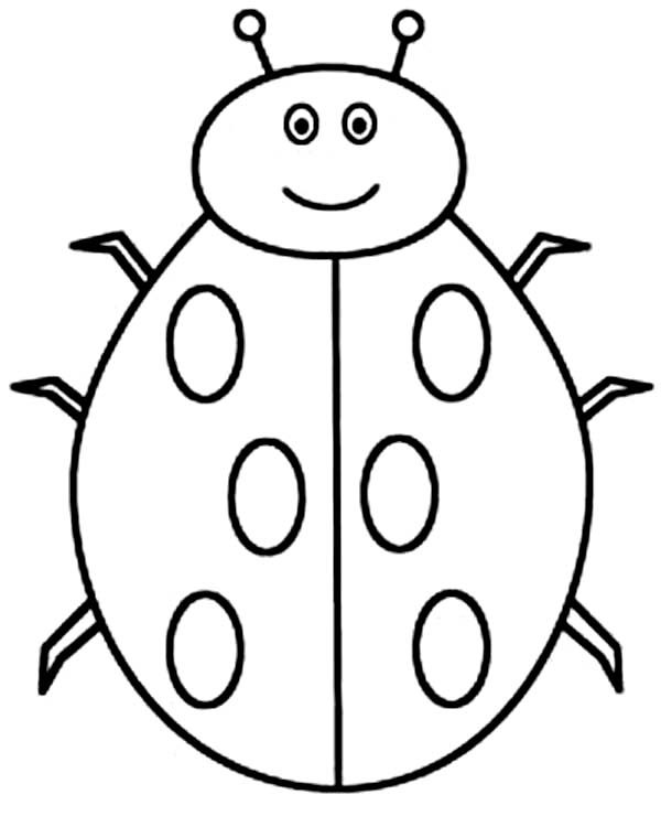 Lady Bug, : Creepy Lady Bug Coloring Page