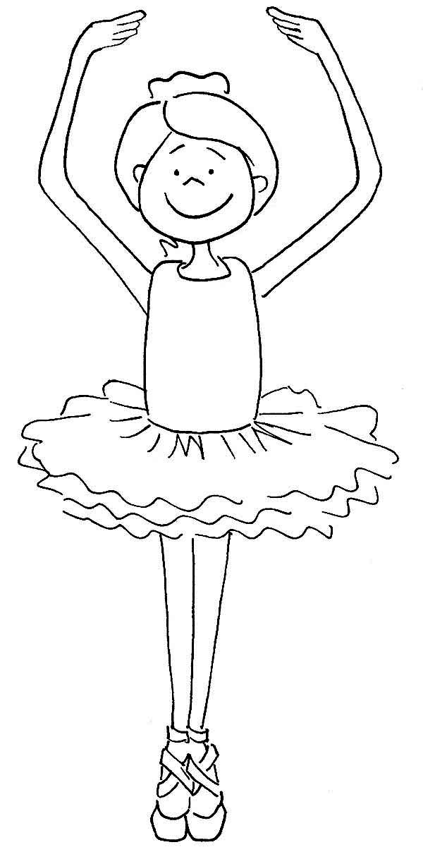Cute ballerina girl coloring page color luna for Ballerina coloring pages