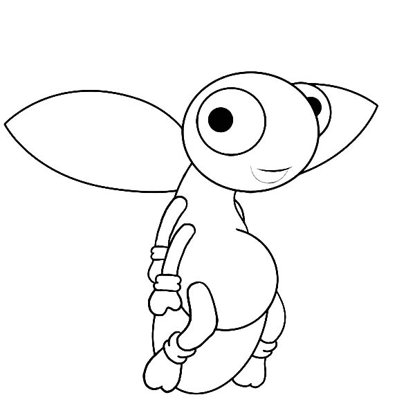 Firefly, : Cute Firefly Coloring Page