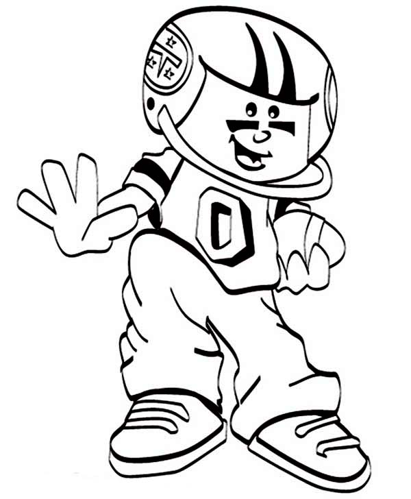 NFL, : Cute Little NFL Player Coloring Page
