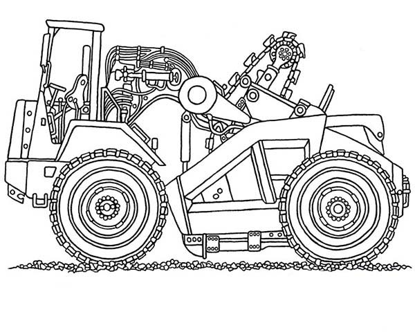 Digger, : Digger Coloring Page for Kids