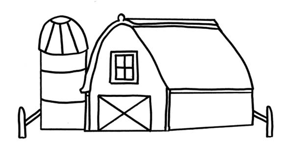 Drawing barn coloring page