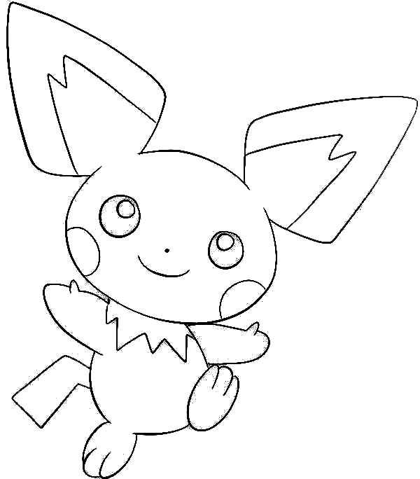 pichu colouring pages