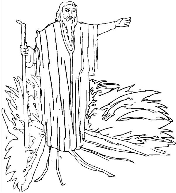 Drawing Prophet Moses Coloring Page