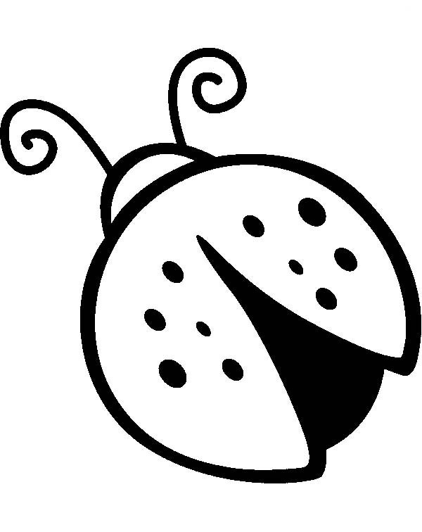 Lady bug drawing for Ladybug coloring page