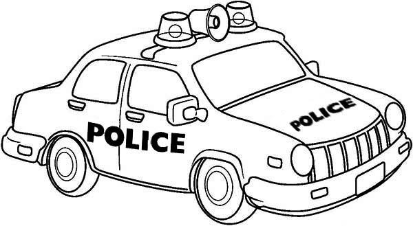 drawing of police car coloring page - Drawing Pictures For Colouring