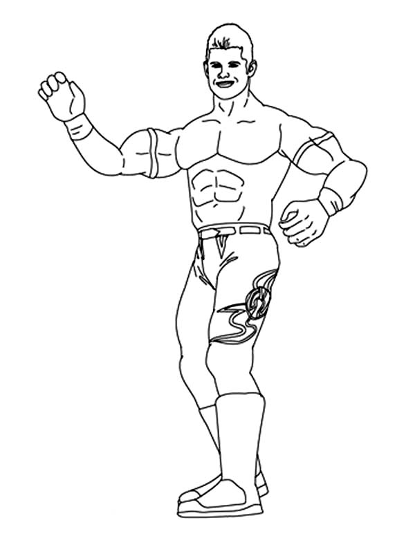 Wrestling, : Evan Bourne from World Wrestling Entertainment  Coloring Page