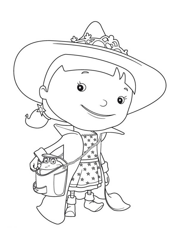 Mike the Knight, : Evie is on Vacation in Mike the Knight Coloring Page