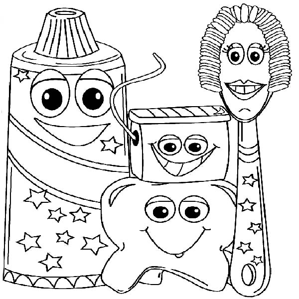 Example Picture of Dental Health Coloring Page | Color Luna