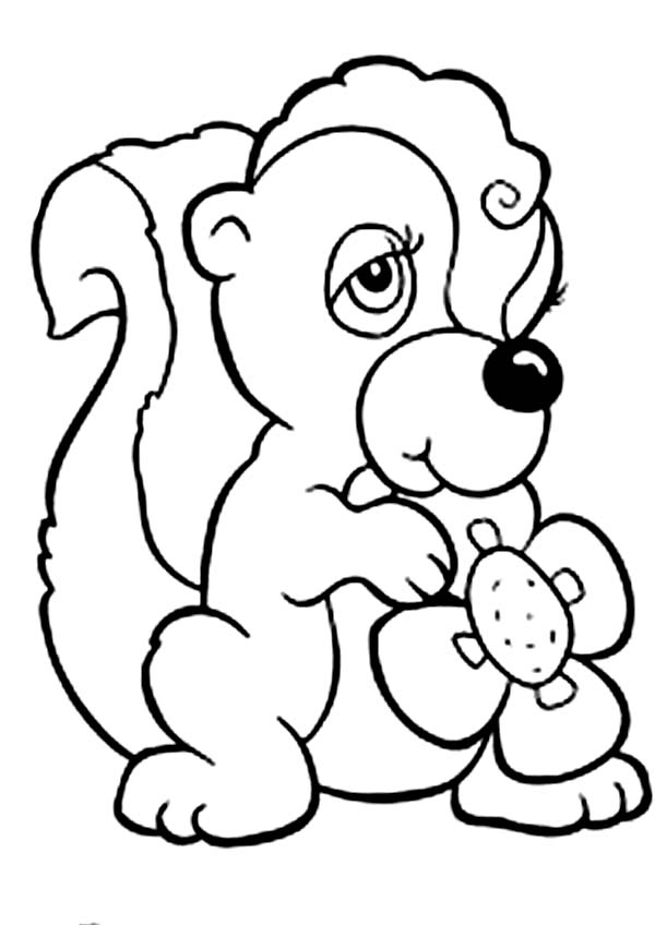 Female Skunk Coloring Page Color Luna