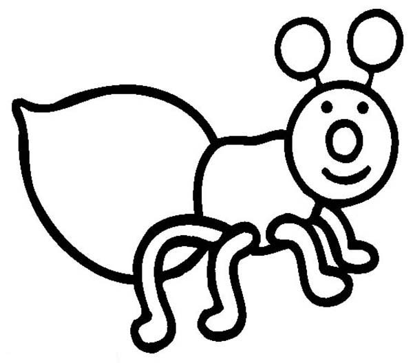 Firefly, : Firefly Outline Coloring Page