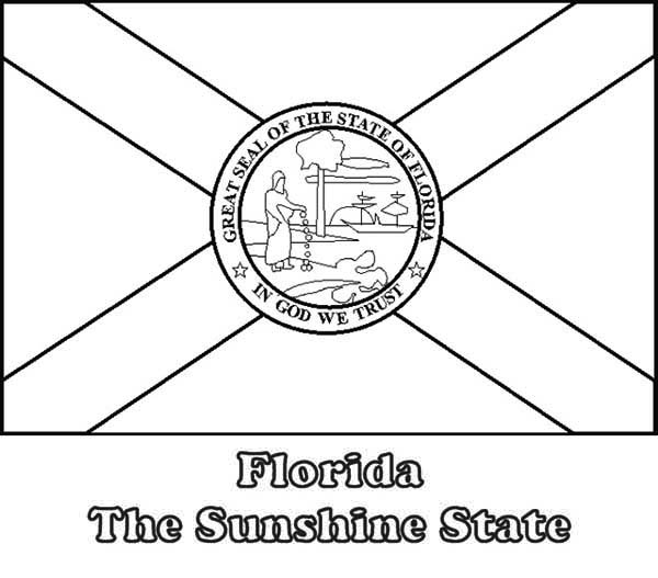 Florida State Flag Coloring Page Color Luna
