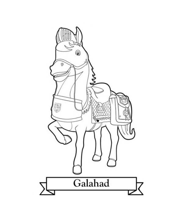 Mike the Knight, : Galahad the Horse from Mike the Knight Coloring