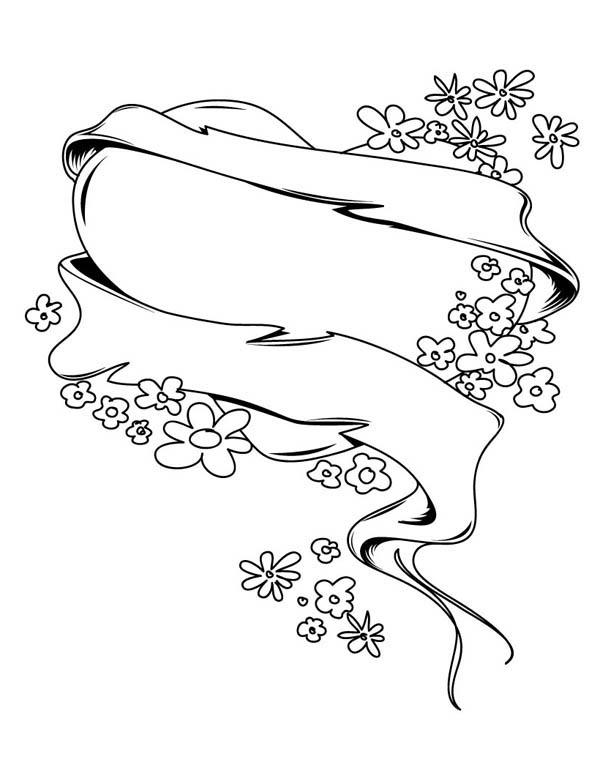 Hearts & Roses, : Hearts and Roses for Mother Coloring Page