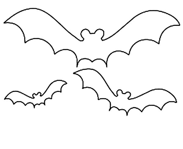 How to Draw Bats Coloring Page | Color Luna