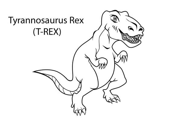 How-to-Draw-T-Rex-Coloring-Page