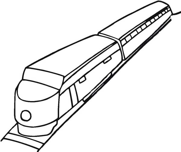 Trains, : How to Draw a Train Coloring Page