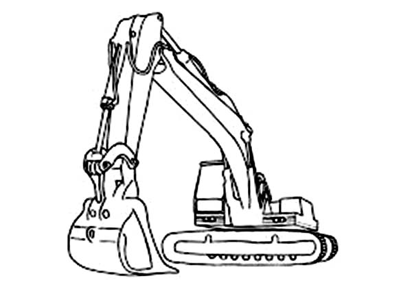 Digger, : Image of Awesome Digger Coloring Page