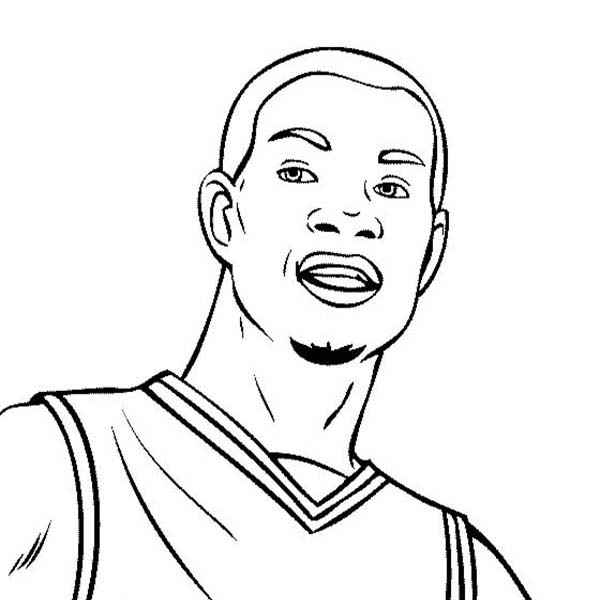 NBA, : Kevin Durant is NBA Player Coloring Page